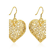 abordables -Mujer Pendientes colgantes Joyas Diseño Básico Chapado en Oro Forma de Corazón Joyas Para Boda Fiesta Diario Casual