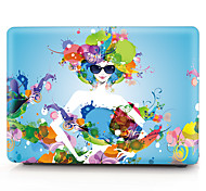 "Case for Macbook 13"" Macbook Air 11""/13"" Macbook Pro 13"" MacBook Pro 13"" with Retina display Flower Plastic Material Flower Fashion Girl Pattern"
