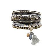 cheap -Women's Charm Bracelet Wrap Bracelet Leather Bracelet Bracelet Fashion Vintage Bohemian Personalized Handmade Luxury Costume Jewelry