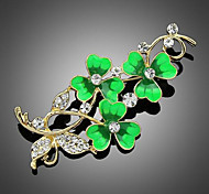 May Polly  New lucky clover flower brooch oil drops