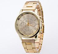 Недорогие -Муж. Кварцевый Китайский Повседневные часы сплав Группа Мода Золотистый
