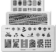 1pcs os elementos retangulares manicure placa de impressão