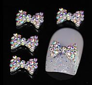 10шт красочный горный хрусталь бабочкой поделки сплава аксессуары ногтей украшения