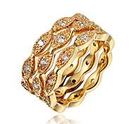 Damen Ring Kubikzirkonia Modeschmuck vergoldet 18K Gold Schmuck Für Hochzeit Party Alltag Normal