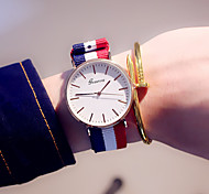 Women's Fashion Watch Casual Watch Quartz / Colorful Fabric Band Casual Blue