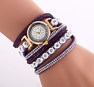 Women's Fashion Watch Wrist watch Bracelet Watch Quartz Colorful Imitation Diamond PU Band Vintage Bohemian Charm Bangle Casual CoolBlack