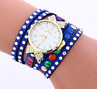 Women's Fashion Watch Wrist watch Necklace Watch Bracelet Watch Colorful Quartz PU Band Vintage Candy color Bohemian Charm Bangle Casual