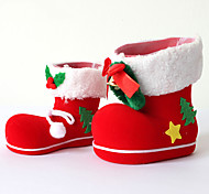 2PCs Christmas Decoration Gifts Role Ofing Christmas Tree Ornaments Christmas Gift Christmas Boots Furnishing Articles