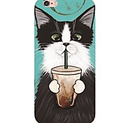 cheap -iPhone 7 7Plus Cartoon Cat Pattern TPU Ultra-thin Soft Back Cover for iPhone 6s 6 Plus 5s 5 5E
