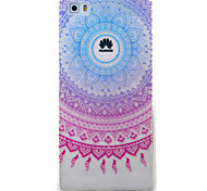 Для huawei y5ii y6ii чехол для случая синий колокольчик узор окрашенный материал для телефона tpu для y625 y635 5x p9 p8 lite