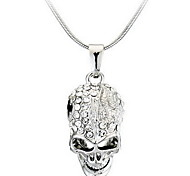 cheap -Pendant Necklace - Skull Personalized, Fashion Silver Necklace For Casual