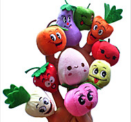 cheap -Finger Puppets Stuffed Animals Plush Toy Stuffed Toy Toys Vegetables Fruit Novelty Plush Girls' Boys' Pieces