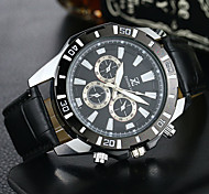 cheap -Men's Quartz Wrist Watch Casual Watch PU Band Casual Dress Watch Fashion Black Brown