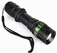 LED Flashlights / Torch LED 500 lm 3 Mode LED Adjustable Focus Waterproof Compact Size Super Light Zoomable for Camping/Hiking/Caving