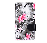 cheap -For Samsung Galaxy J7 (2016) J5 (2016) Case Cover Flowers PU Leather Mobile Phone Holster