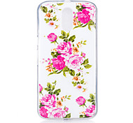 cheap -Case For Motorola Glow in the Dark Pattern Back Cover Flower Soft TPU for MOTO G4