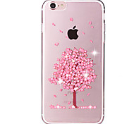 cheap -Flower Tree Pattern Crystal Glitter Diamond Soft TPU Back Cover Cases for iPhone 7 7 Plus