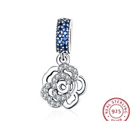 The European and American Fashion Jewelry 925 Sterling Silver Pendant Pendant Hanging - Rose Shape Accessories