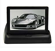 "cheap -4.3"" Fold LCD Car Monitor DVD TV Rear View Screen for Parking Sensor Camera DVD"