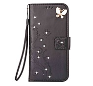 For Samsung Galaxy A3(2016) A5(2016) Case Cover Rhinestone Embossed Butterfly PU Leather for Galaxy A3 A5
