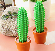 Special Design Green Cactus Shaped Ballpoint Pen For School / Office