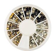 золото / серебро / черный квадрат заклепки сплава Nail Art Decoration 3x3mm