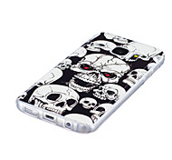 For Case Cover Glow in the Dark IMD Pattern Back Cover Case Skull Soft TPU for Samsung Galaxy S7 edge S7 S6 edge S6 S5