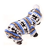 cheap -Dog Hoodie Jumpsuit Dog Clothes Floral / Botanical Blue Flannel Fabric Costume For Pets Men's Women's Keep Warm Sports