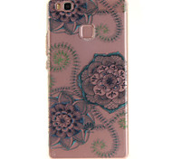 For Huawei P9 Lite P8 Lite TPU Material IMD Process Blue Dream Flower Pattern Phone Case for Y6II Enjoy 5 Honor 8