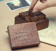 cheap -28pcs Wooden Wood Party Office / Career Stamps Stamp Blocks