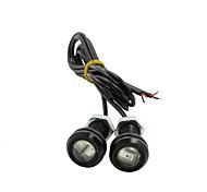 Недорогие -водить орлиный глаз в дневное время резервного копирования работает DRL свет тумана автомобиль авто красный 12v 9w 18мм х 2