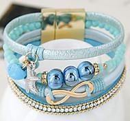 European Fashion Trend Leather Bracelet Magnetic Fashion Gift Jewelry