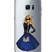 For Samsung Galaxy S6 Edge Plus S6 S7 Edge S7 Business lady Soft Material For Compatibility TPU