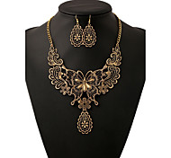 Jewelry 1 Necklace 1 Pair of Earrings Wedding Party Daily Casual Alloy 1set Women Gold Silver Wedding Gifts