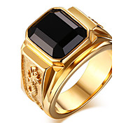 cheap -Men's Onyx Ring / Statement Ring - Fashion Green / Blue / Golden Ring For Daily / Casual
