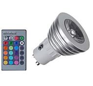 Недорогие -KWB 4 Вт. 400 lm E14 GU10 GU5.3(MR16) GU5.3 Точечное LED освещение MR16 1 светодиоды COB Диммируемая На пульте управления Декоративная RGB