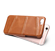cheap -Case For Apple iPhone 8 iPhone 8 Plus Shockproof Back Cover Solid Color Hard Genuine Leather for iPhone 8 Plus iPhone 8 iPhone 7 Plus