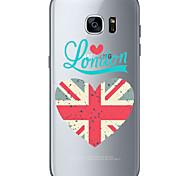 Para Ultra-Fina Transparente Estampada Capinha Capa Traseira Capinha Bandeira Macia TPU para Samsung S7 edge S7 S6 edge plus S6 edge S6