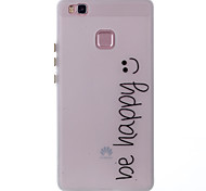 Case For Huawei Glow in the Dark Pattern Back Cover Word / Phrase Soft TPU for Huawei P9 Lite Huawei P8 Lite
