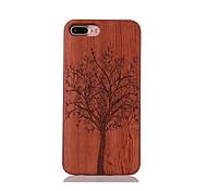 Для Защита от удара Рельефный С узором Кейс для Задняя крышка Кейс для дерево Твердый Дерево для AppleiPhone 7 Plus iPhone 7 iPhone 6s