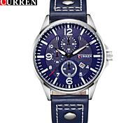 Men's Sport Watch Military Watch Fashion Watch Wrist watch Quartz Calendar Genuine Leather Band Vintage Casual Multi-Colored