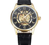 Homens Relógio Esportivo Relógio de Moda Relógio de Pulso relógio mecânico Mecânico - de dar corda manualmente Couro Legitimo Banda