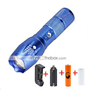 preiswerte -U'King LED Taschenlampen LED 2000 lm 5 Modus Cree XM-L T6 inklusive Batterie und Ladegerät Zoomable- einstellbarer Fokus Abblendbar
