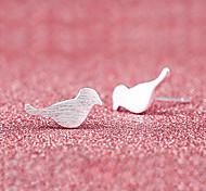 Недорогие -Серьги-гвоздики Симпатичные Стиль Серебрянное покрытие Сплав Птица Животный принт Бижутерия Свадьба Для вечеринок Повседневные Бижутерия