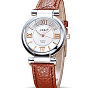 Women's Fashion Watch Wrist watch Quartz Leather Band Casual Cool Black White Red Brown