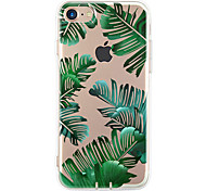 abordables -Para Funda iPhone 7 Funda iPhone 7 Plus Funda iPhone 6 Carcasa Funda Ultrafina Diseños Cubierta Trasera Funda Árbol Suave TPU para Apple