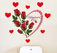 Романтика Цветы Праздник Наклейки Простые наклейки Декоративные наклейки на стены,Бумага материал Украшение дома Наклейка на стену