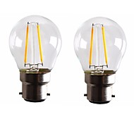cheap -2W B22 LED Filament Bulbs G45 2 leds COB Dimmable Warm White 160-200lm 2700-3500K AC 220-240 AC 110-130V