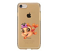 For Transparent Pattern Case Back Cover Case Cartoon Cute Gold Fish Soft TPU for IPhone 7 7Plus iPhone 6s 6 Plus iPhone 6s 6 iPhone 5s 5 5E 5C