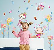 Недорогие -Люди Мода Цветы Наклейки Простые наклейки Декоративные наклейки на стены, Бумага Украшение дома Наклейка на стену Стена Стекло / ванной